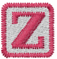 Baby Block Z embroidery design