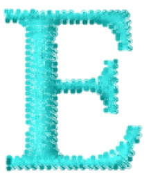Greek Letter E embroidery design