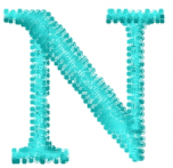 Greek Letter Nu embroidery design
