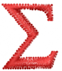 Greek Letter sigma embroidery design