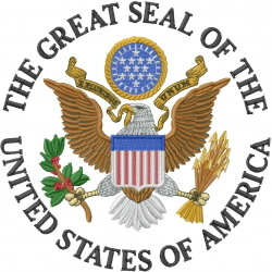 Great Seal of the United States embroidery design