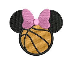 Minnie Mouse Basketball embroidery design