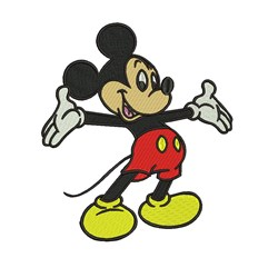 Large Mickey Mouse embroidery design
