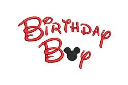 Mickey Birthday Boy embroidery design