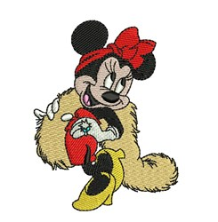 Fancy Minnie Mouse embroidery design