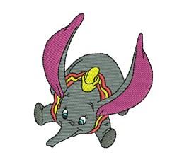 Flying Dumbo embroidery design