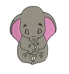 Dumbo Sleeping embroidery design