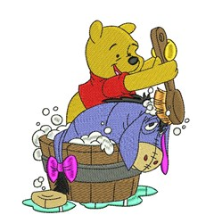 Eeyore & Pooh Bathtime embroidery design