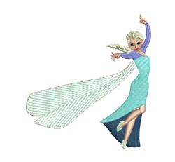 Princess Elsa embroidery design