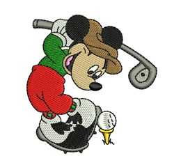 Mickey Mouse Golf Swing embroidery design