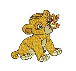 Simba embroidery design