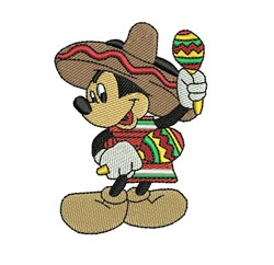 Maraca Mickey Mouse embroidery design