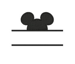 Mickey Mouse Namedrop embroidery design