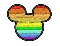 Mickey Mouse Rainbow embroidery design