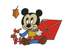 Mickey Mouse Kite embroidery design