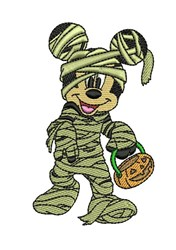 Mummy Mickey Mouse embroidery design