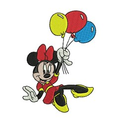 Minnie & Balloons embroidery design