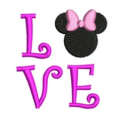 Minnie Mouse Love embroidery design