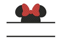 Minnie Mouse Namedrop embroidery design