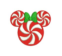 Minnie Mouse Peppermint embroidery design