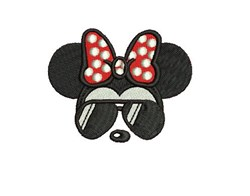 Minnie Mouse Sunglasses embroidery design
