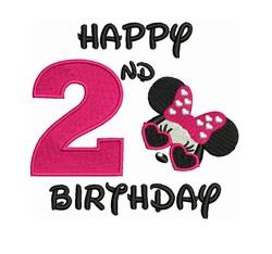 Disney 2nd Birthday embroidery design