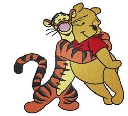 Winnie & Tigger embroidery design