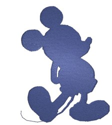 Mickey Mouse Silhouette embroidery design