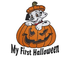 My First Halloween Dalmatian embroidery design