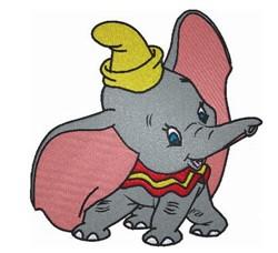 Cute Dumbo Elephant embroidery design