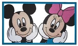 Micky & Minnie embroidery design