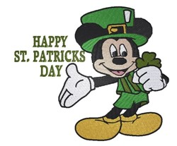 St.Patrick Day Mickey embroidery design