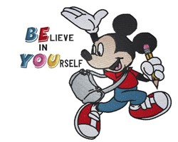 Believe In Yourself embroidery design