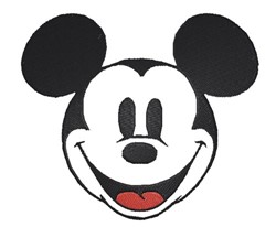 Mickey Mouse No Fill embroidery design