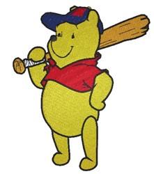 Baseball Winnie embroidery design