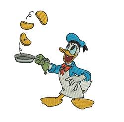 Donald Duck Chef embroidery design
