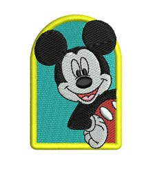 Mickey Mouse Frame embroidery design