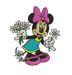 Minnie Mouse Daisy embroidery design