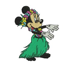 Minnie Mouse Hula embroidery design