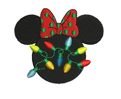 Minnie Mouse Christmas embroidery design