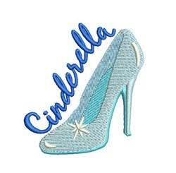 Cinderella Glass Slipper embroidery design