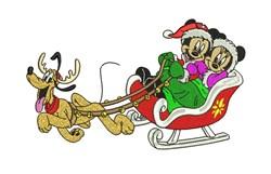 Disney Sleigh Ride embroidery design