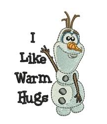Olaf Warm Hugs embroidery design