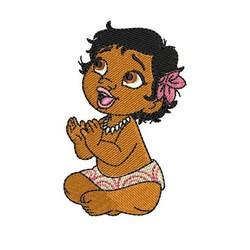 Baby Moana embroidery design