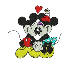 Mickey In Love embroidery design