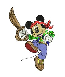 Mickey the Pirate embroidery design