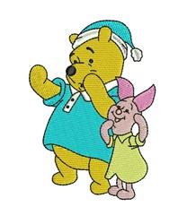 Pooh and Piglet embroidery design