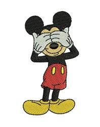 Hiding Mickey Mouse embroidery design