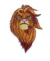Simba Head embroidery design