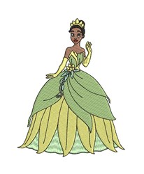 Princess Tiana embroidery design